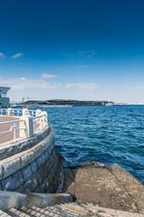 concrete steps in yokohama bay