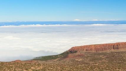 Teide Nationalpark auf Teneriffa (Spanien) Panorama über Wolken