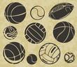 Quadro Sports Balls - vector set.