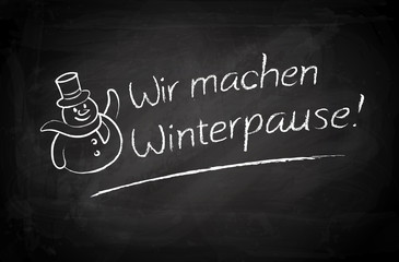 Wir machen Winterpause - Blackboard
