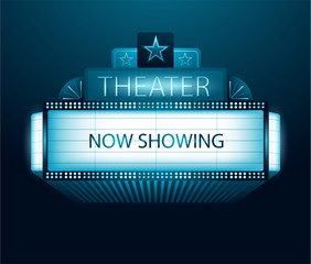 Now showing movie theater banner