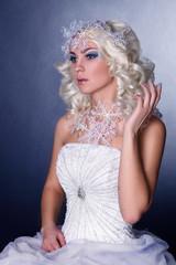 Snow Queen with frozen makeup