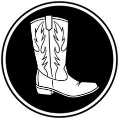 Cowboy Boot Symbol