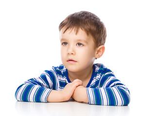 Portrait of nice cheerful boy