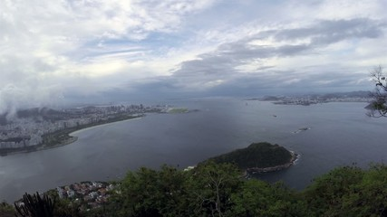 Aerial View From Sugar Loaf Mountain in Rio de Janeiro, Brazil