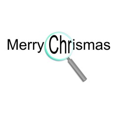 magnifier merry christmas
