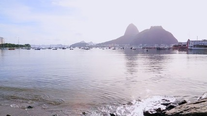 Amazing Landscape from Botafogo Beach in Rio de Janeiro, Brazil