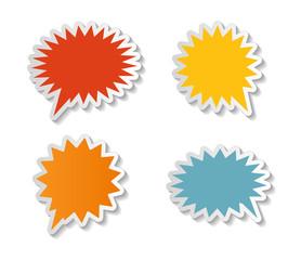 Speech Bubbles Stickers Vector Illustration