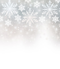 Beautiful snowflakes border