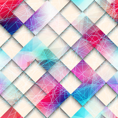 Abstract geometric pattern of squares.