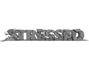 Stressed conncept idea with 3d shattered text