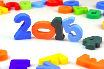 2015 Jahreszahl mit Buchstaben