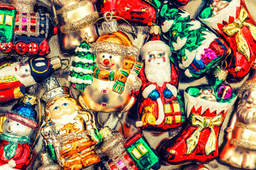 christmas tree ornaments, baubles, toys and decorations