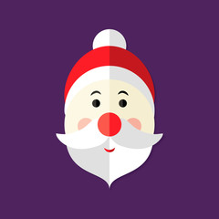 Santa Claus Christmas Flat Icon