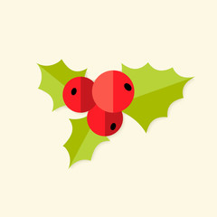 Rowan Berry Christmas Flat Icon