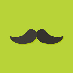 Mustache Christmas Flat Icon