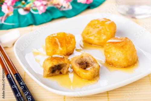 gebackene Bananen - Pisang goreng - fried bananas - 74804888