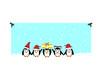 canvas print picture - Christmas pinguins