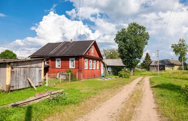 Russian village in summertime