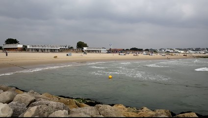 Sandbanks beach and sea Poole Dorset England UK