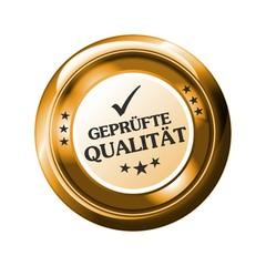 Geprüfte Qualität - Button Gold