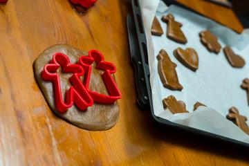 Christmas cookies cooking