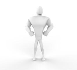 3D Athlete Hero Posing - front view.