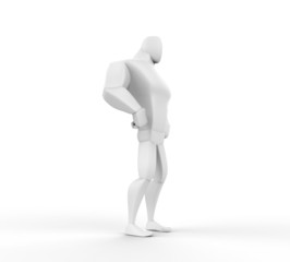 3D Hero Standing - isolated on white background.