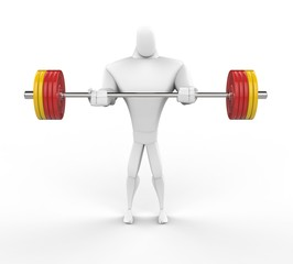 3D Strong Character lifting heavy weights.