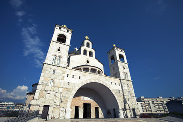 Church of the Chirst's Resurrection in Podgorica, Montenegro