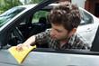 Waxing car door