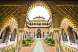 Fototapeta Alcazar of Seville, Spain Courtyard