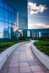 Outdoor walkway at the Revel Hotel Casino in Atlantic City, New