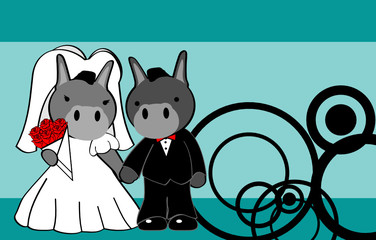 donkey married cartoon background