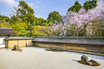 Kyoto, Japan at Ryoan-ji Temple in Spring