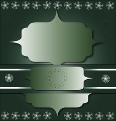 green photo frame with shapes