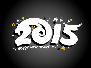 Vector 2015 new year design with goat.