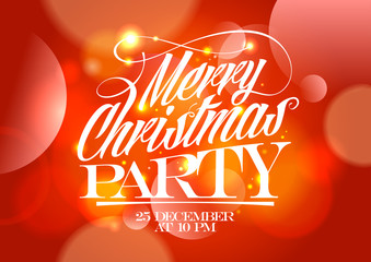 Christmas party red design.