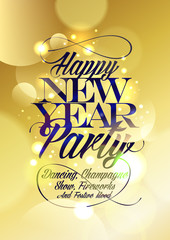 Happy new Year party design.