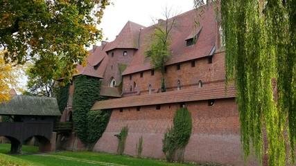 Walls of the Malbork castle