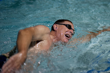 Breath and cadence of a swimmer