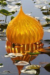Sphere on a Lake - Chihuly exhibit Miami