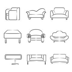 sketch sofa icons