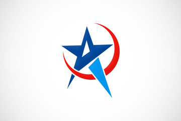 star abstract business logo vector