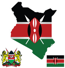 Republic of Kenya map