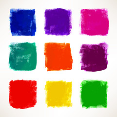 grunge colorful squares