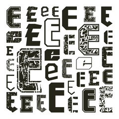 Set versions of letters E