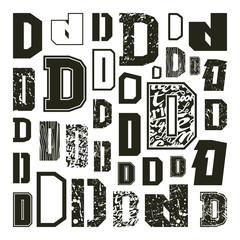 Set versions of letters D