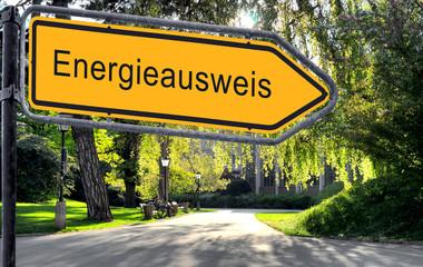 Strassenschild 25 - Energieausweis