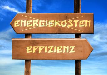 Strassenschild 29 - Effizienz